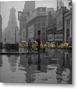 Yellow Cabs New York Metal Print by Andrew Fare