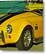 Yellow Cobra Metal Print by Gwyn Newcombe