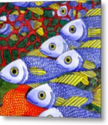 Yellow Fins Metal Print by Catherine G McElroy