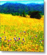 Yellow Hills Metal Print by Wingsdomain Art and Photography