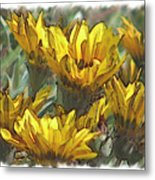 Yellow  Metal Print by Laurianne Nash