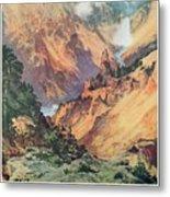 Yellowstone Park Metal Print by Thomas Moran