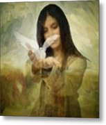 You Bird Of Freedom And Peace Metal Print by Gun Legler