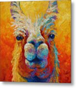 You Lookin At Me Metal Print by Marion Rose