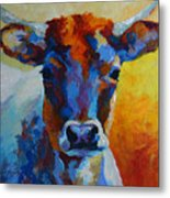 Young Blood - Longhorn Metal Print by Marion Rose