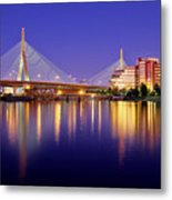 Zakim Twilight Metal Print by Rick Berk