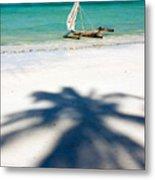 Zanzibar Beach Metal Print by Adam Romanowicz