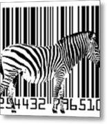 Zebra Barcode Metal Print by Michael Tompsett