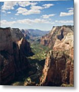 Zion Valley From Observation Point - Color Metal Print by Steven Wilson