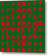 Zodiac Killer Code And Sign 20130213 Metal Print by Wingsdomain Art and Photography