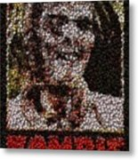 Zombie Bottle Cap Mosaic Metal Print by Paul Van Scott