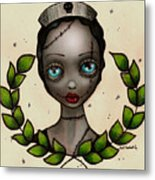 Zombie Nurse Metal Print by  Abril Andrade Griffith