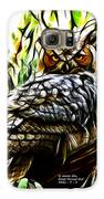 Fractal-s -great Horned Owl - 4336 Galaxy S6 Case by James Ahn