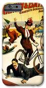 Funny Scenes of Bicycles and Roller Skates iPhone Case by Nomad Art And  Design