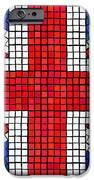 Union Jack mosaic iPhone Case by Jane Rix