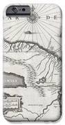 1635 Blaeu Map Guiana Venezuela and El Dorado iPhone Case by Paul Fearn