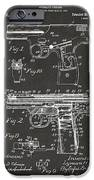 1911 Automatic Firearm Patent Artwork - Gray iPhone Case by Nikki Marie Smith