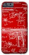 1911 Automatic Firearm Patent Artwork - Red iPhone Case by Nikki Marie Smith