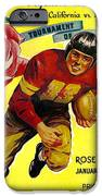 1946 Rose Bowl Program iPhone Case by David Patterson