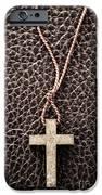 Christian Cross on Bible iPhone Case by Elena Elisseeva