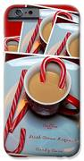 Cup of Christmas Cheer - Candy Cane - Candy - Irish Cream Liquor iPhone Case by Barbara Griffin