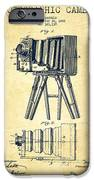Photographic Camera Patent Drawing from 1885 iPhone Case by Aged Pixel
