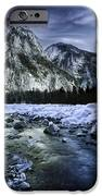 A River Flowing Through The Snowy iPhone Case by Evgeny Kuklev