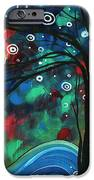 Abstract Art Original Landscape Colorful Painting FIRST SNOW FALL by MADART iPhone Case by Megan Duncanson