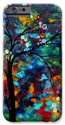 Abstract Art Original Landscape Painting Bold Colorful Design SHIMMER IN THE SKY by MADART iPhone Case by Megan Duncanson