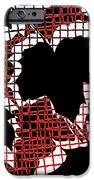Abstract Leaf Pattern - Black White Red iPhone Case by Natalie Kinnear