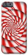 Abstract - Spirals - The power of mint iPhone Case by Mike Savad