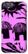 African Huts Pink iPhone Case by Caroline Street
