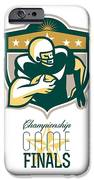 American Football Championship Game Finals QB iPhone Case by Aloysius Patrimonio