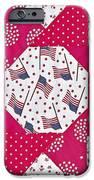 Americana Quilt Block Design iPhone Case by Valerie Garner