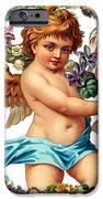 Angel in Blue iPhone Case by Munir Alawi