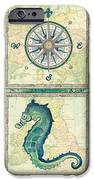 Aqua Maritime Patch iPhone Case by Debbie DeWitt