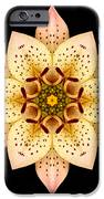 Asiatic Lily Flower Mandala iPhone Case by David J Bookbinder