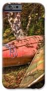 Autumn Canoes iPhone Case by Debra and Dave Vanderlaan