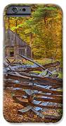 Autumn Wooden Fence iPhone Case by Joann Vitali