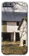 Barn Near Utica Mills Covered Bridge iPhone Case by Joan Carroll