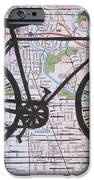 Bike 8 on Map iPhone Case by William Cauthern