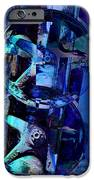 Blue Gears Collage iPhone Case by Ann Powell