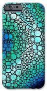 Blue Green Energy - Stone Rock'd Art Panting iPhone Case by Sharon Cummings
