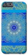 Blue Space Flower iPhone Case by Hanza Turgul