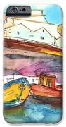 Boats in Ericeira in Portugal iPhone Case by Miki De Goodaboom
