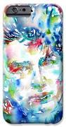 BONO WATERCOLOR PORTRAIT.1 iPhone Case by Fabrizio Cassetta