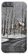Cabin In The Woods iPhone Case by Lara Ellis