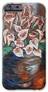 Calla Lilies and Frog iPhone Case by Xueling Zou