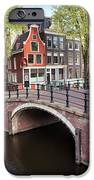 Canal Bridge and Houses in Amsterdam iPhone Case by Artur Bogacki