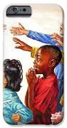 Children Coming to Jesus iPhone Case by John Lautermilch